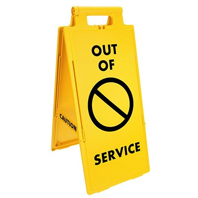 Lockin'arm Floor Stand Signs - Out of Service with graphic - Cortina 03-600-41