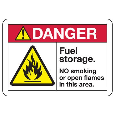 ANSI Safety Signs - Danger Fuel Storage