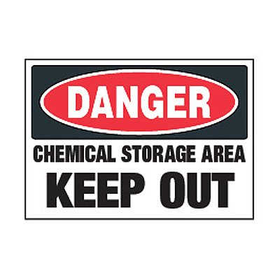 Chemical Labels - Danger Chemical Storage Area Keep Out