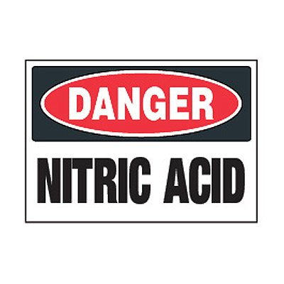 Chemical Safety Labels - Danger Nitric Acid