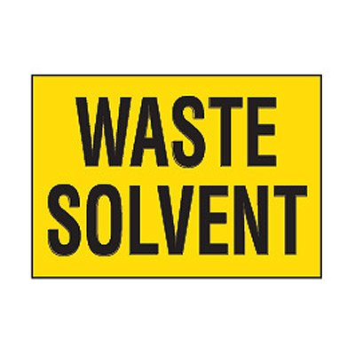 Chemical Safety Labels - Waste Solvent