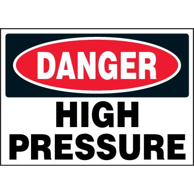 Chemical Labels - Danger High Pressure