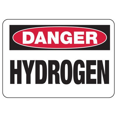 Chemical Warning Signs - Danger Hydrogen