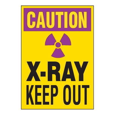Chemical Radiation Labels - X-Ray Keep Out