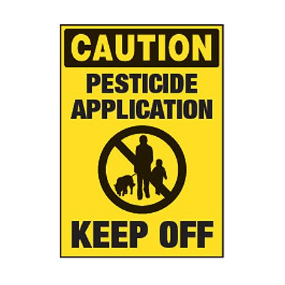Chemical Labels - Caution Pesticide Application Keep Off