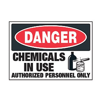Chemical Safety Labels - Danger Chemicals In Use
