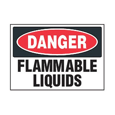 Chemical Safety Labels - Danger Flammable Liquids