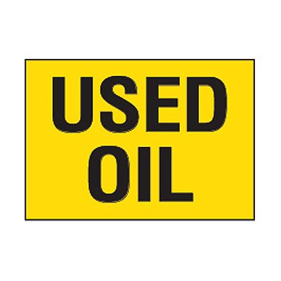 Chemical Safety Labels - Used Oil