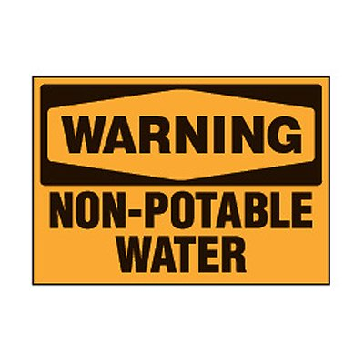 Chemical Safety Labels - Warning Non-Potable Water