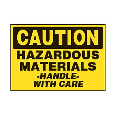 Chemical Safety Labels - Caution Hazardous Materials