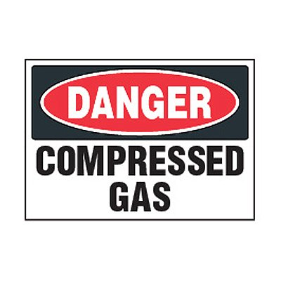 Chemical Safety Labels - Danger Compressed Gas
