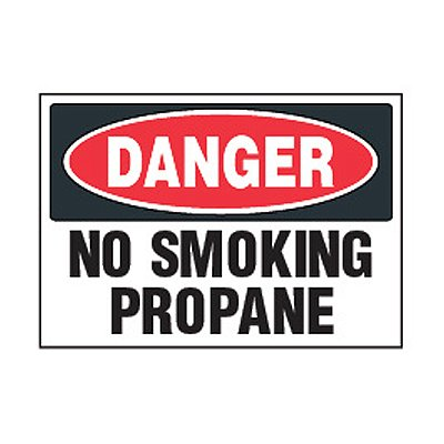 Chemical Safety Labels - Danger No Smoking Propane
