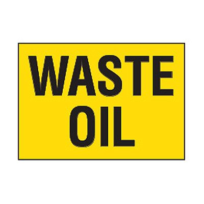 Chemical Safety Labels - Waste Oil