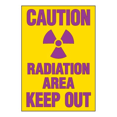 Chemical Radiation Labels - Radiation Area Keep Out