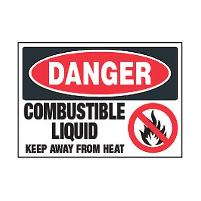 Chemical Safety Labels - Danger Combustible Liquid Keep Away