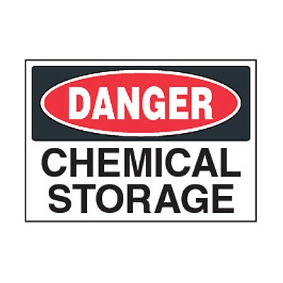 Chemical Safety Labels - Danger Chemical Storage