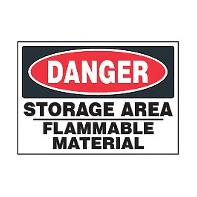 Chemical Safety Labels - Danger Storage Area Flammable