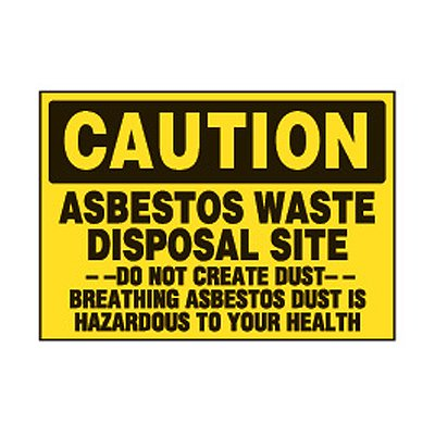 Chemical Safety Labels - Caution Asbestos Waste Disposal