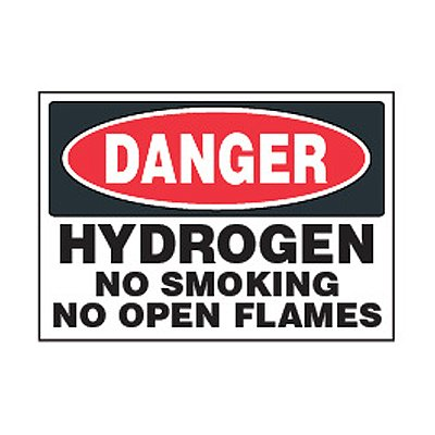 Chemical Safety Labels - Danger Hydrogen Fuel No Smoking