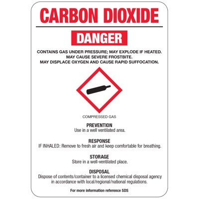 Chemical GHS Signs - Carbon Dioxide