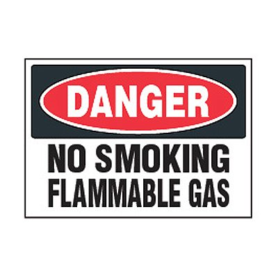 Chemical Safety Labels - Danger No Smoking
