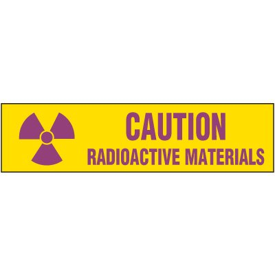 Chemical Labels - Caution Radioactive Materials