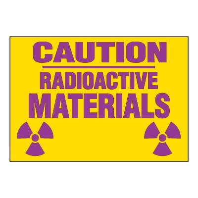 Chemical Radiation Labels - Caution Radioactive Materials