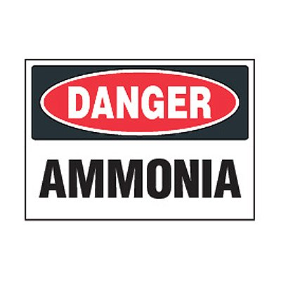 Chemical Safety Labels - Danger Ammonia