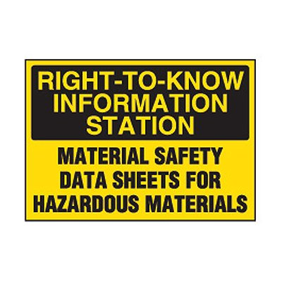Chemical Safety Labels - Right-To-Know Station MSDS