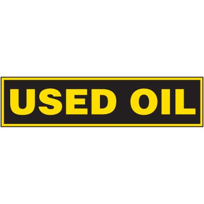 "Chemical Labels - Used Oil 2-1/4"" x 9"""