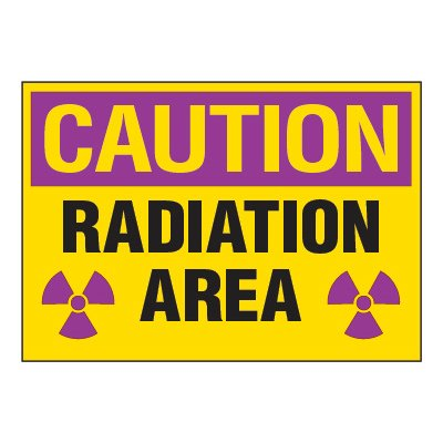 Chemical Radiation Labels - Radiation Area (Horizontal)