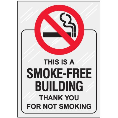 Smoke Free Building Window Decal
