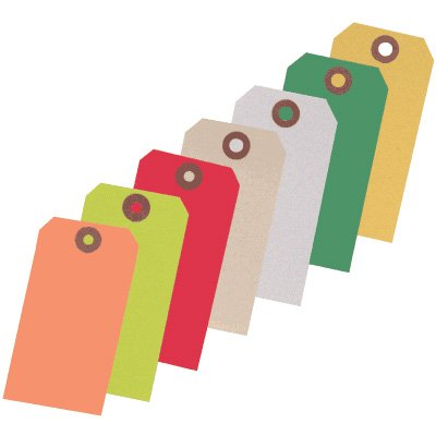 Custom Printed Heavy Duty Colored Paper Tags