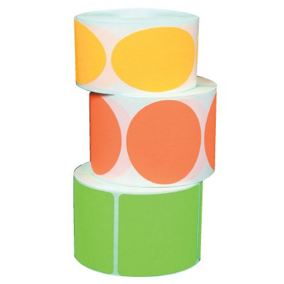 """Blank Roll-Form Paper Labels - Circle 1/4"""" Dia."""