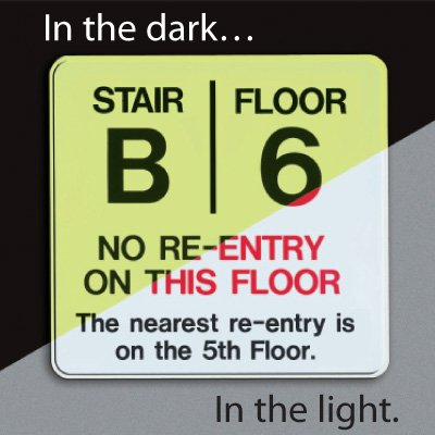 Custom Glowing Re-Entry Stair Sign