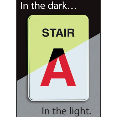 Custom Stair Identification Sign