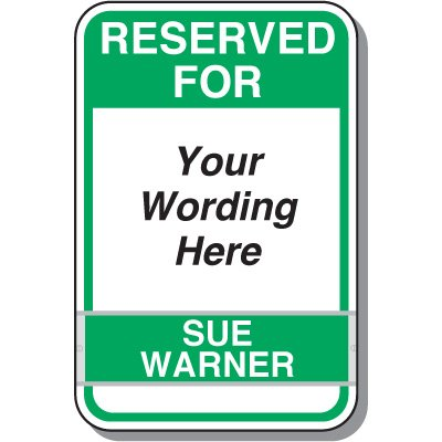 Reserved Employee of the Month Custom Signs