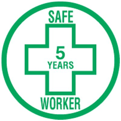 Consecutive Years Labels - Safe Worker