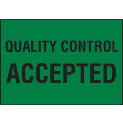 Color-Coded QC Labels - Quality Control Accepted