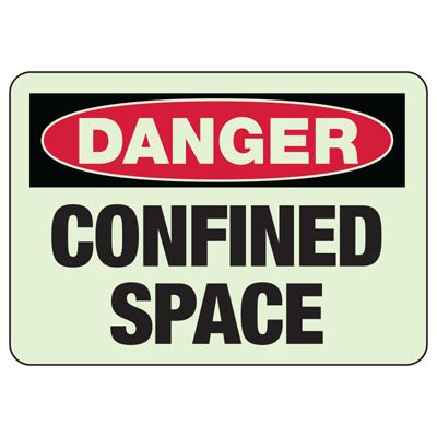 Danger Confined Space Glow Sign