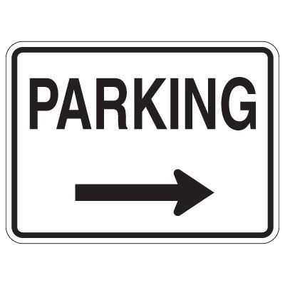 Directional Arrow Traffic Signs - Parking