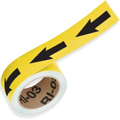 Yellow Directional Pipe Markers