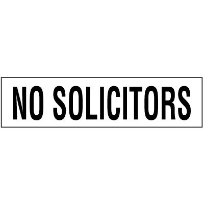 No Solicitors Label