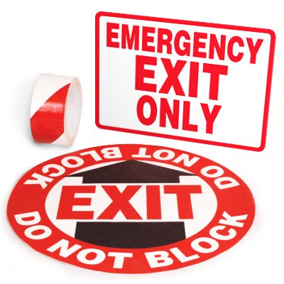 Exit Identification Kits - Emergency Exit Only