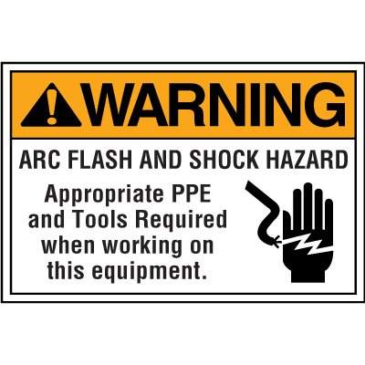 Electrical Safety Labels On A Roll - Warning Arc Flash