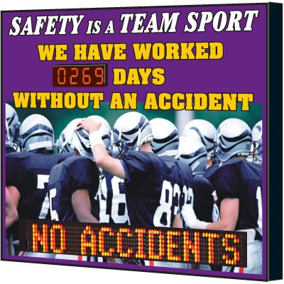 Safety Is A Team Sport Scoreboard