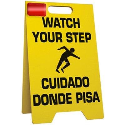 Watch Your Step Floor Stand