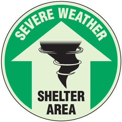 Severe Weather Shelter Anti-Slip Floor Markers