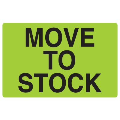Fluorescent Warehouse & Pallet Labels - Move To Stock