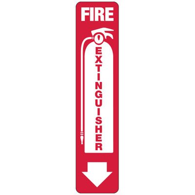 Slim-Line Fire Extinguisher (With Graphic) Sign